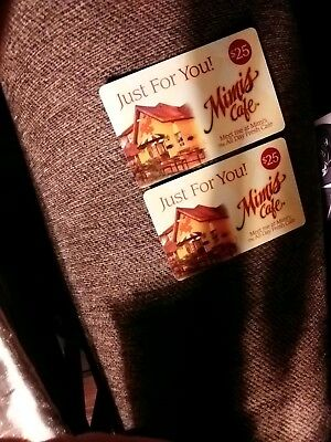 MIMI'S CAFE Gift card $25 X 2 $50 Total