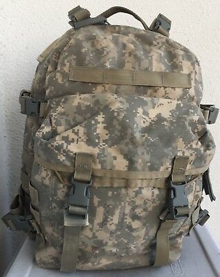 US ARMY SURPLUS ACU ASSAULT MOLLE Backpack w/ Back Stiffener 3 Day Pack