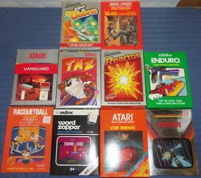 Vintage Original Atari 2600 Box Only LOT of 10 To Complete Your Game Cartridges