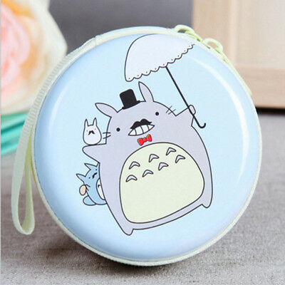New Round My Neighbor Totoro Mini Coin Purse Pouch Headphone Bag Wallets