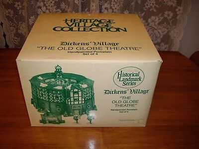 Dept 56 Dickens Village Historical Landmark Series THE OLD GLOBE THEATRE plus