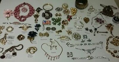 Large lot vintage estate sale jewelry Eisenberg Ice, Weiss, Coro, 925 goldfilled