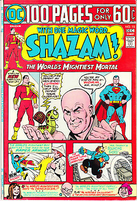 Shazam 15 VF+ (8.5) DC Comics 1974 Captain Marvel 100 Page Giant Comic Books