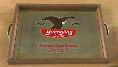 Rare Vintage Yuengling Beer - Brewing Wood Framed Coffee Server Carrying Tray Pa