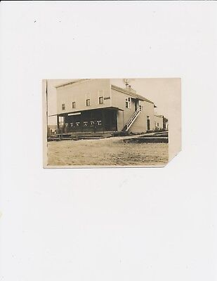 RPPC Vintage 1909 Covert Michigan Post Office Many Signs Hardware Tobacco Doctor
