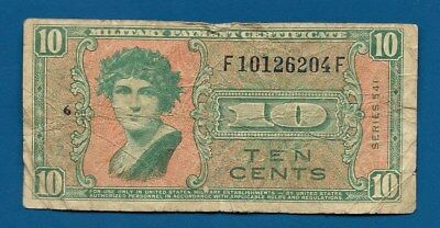 US Military Payment 10 Cents Series 541 ND-1959 M-37 MPC Certificate