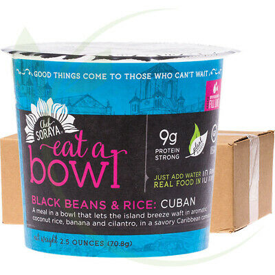CHEF SORAYA - Eat a Bowl - 9g Protein Cuban Black Beans & Rice 6x70g