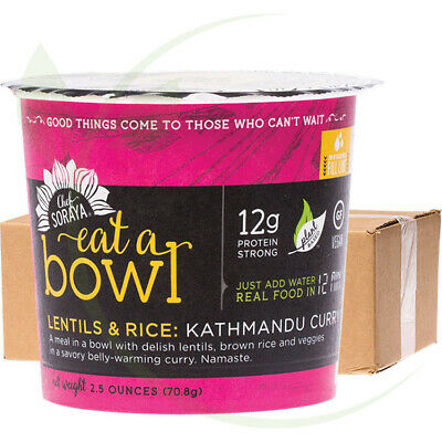 CHEF SORAYA - Eat a Bowl - 12g Protein Kathmandu Curry Lentils & Rice 6x70g