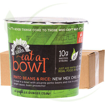 CHEF SORAYA - Eat a Bowl - 10g Protein New Mex Chili Lime Beans & Rice 6x70g