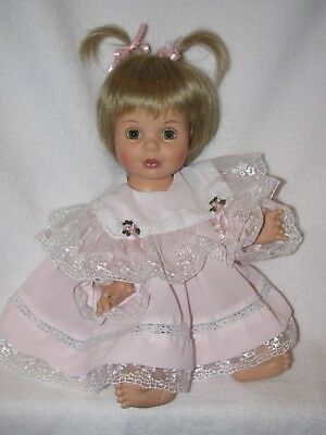 "14"" Playmate Baby So Beautiful Doll Dressed In Pink Dress"