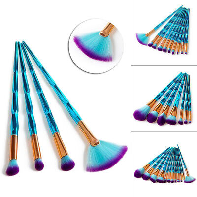 4/7/10/12/Pcs Eyebrow Eyeliner Blush Cosmetic Concealer Make Up Brushes Kit CW