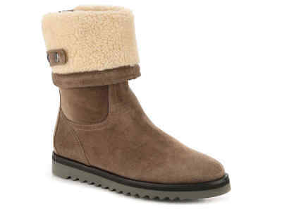 NEW Aquatalia Perdi Brown Suede Water-Resistant Cuff Boots, Women Size 5, $495