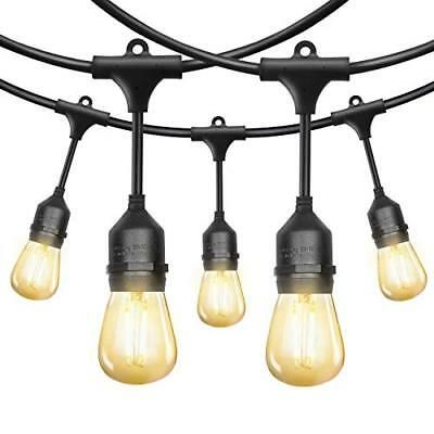 52FT LED Outdoor String Lights 2W Dimmable Vintage Edison Bulbs for Garden Party