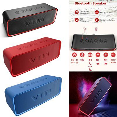 Vtin Portable Wireless Bluetooth Speaker Big Volume BASS AUX Mic IPX6 Xmas Gifts