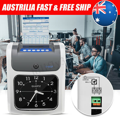 Employee Time Attendance Clock Recorder Bundy + 180pcs Timecards Payroll