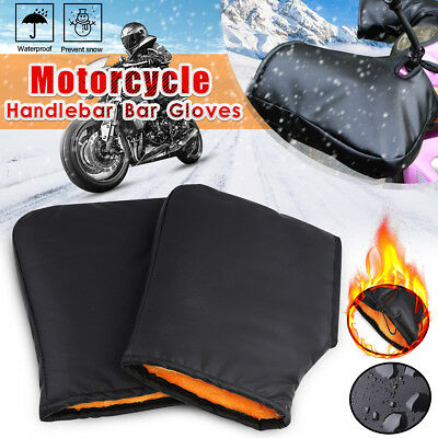 Motorcycle Handle Bar Muffs Snowmobile Winter Hand Grip Warmer Cover Gloves