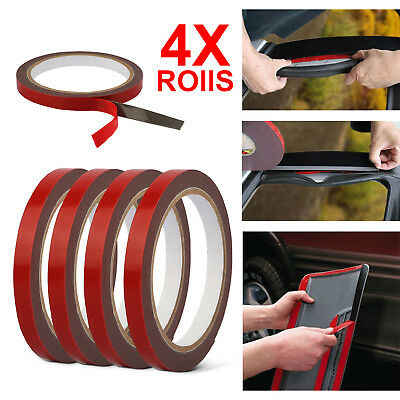 3m×10mm 4 Roll Auto Truck Car Acrylic Foam Double Sided Attachment Tape Adhesive
