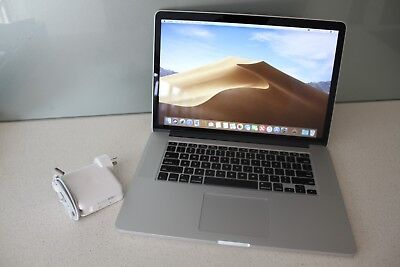 "Apple MacBook Pro 15"" (Mid 2015) i7 2.2Ghz 16GB 512GB SSD RETINA A1398 MOJAVE"