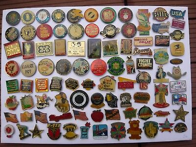 lot 90 pin s AMERICAINS different lire detail