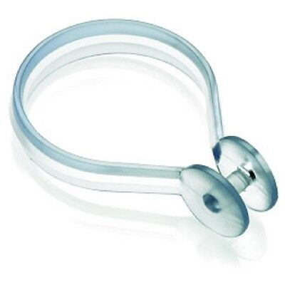 Croydex Clear Shower Curtain Button Rings (Pack of 12) For curtain rods upto 33m