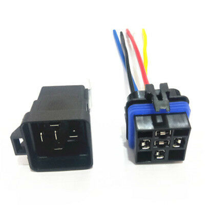 1X 12/24V DC 40A 1.8W AMP Relay & Socket SPDT 4 Pin 5 Wire For Car Auto Truck