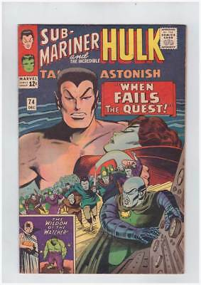 Tales to Astonish # 74  When Fails the Quest !   grade 7.0  scarce book !