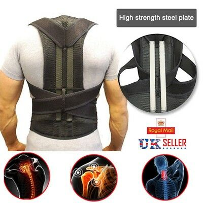 Therapy Posture Corrector Spine Full Back Support Shoulder Brace Spine Adjust UK