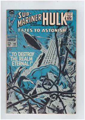 Tales to Astonish # 98  Destroy the Realm Eternal ! grade 7.5 scarce book !