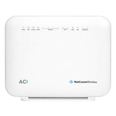 NEW NETCOMM NF18ACV AC1600 WIFI VDSL/ADSL MODEM ROUTER WITH VOICE - GIGABIT.f.