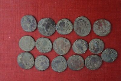 Lot of 16 Barbarian imitation of Byzantine and Roman bronze coins
