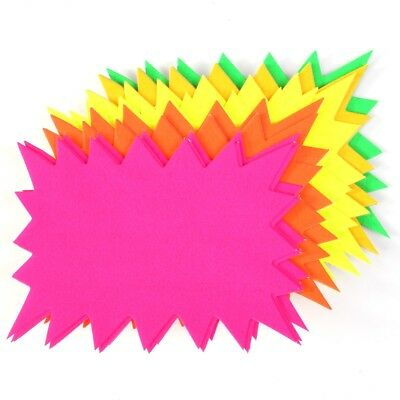 40x LARGE FLUORESCENT FLASH CARDS Student Study Revision Exam School Uni Notes