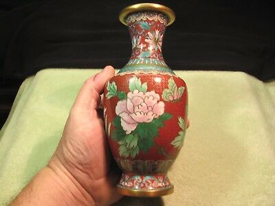 A Well Executed Old Antique/vintage Chinese Japanese Cloisonne Vase