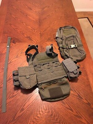 Crye Precision JPC Ranger Green, Size Med, W/ Ferro Concepts, Eagle Map Pack