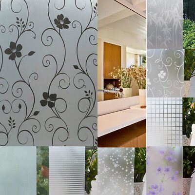 Privacy Window Film Frosted Window Stickers Self Adhesive Static 1m/2m/3m White