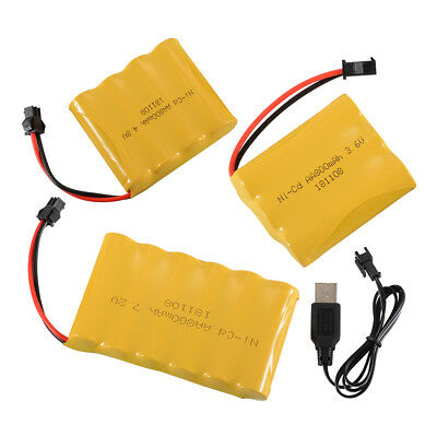 3.6V/4.8V/7.2V 800mAh Rechargeable Ni-Cd AA Battery +USB Cable for Toys Electric