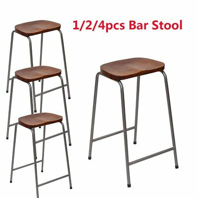 Vintage Seat/Bar Stool Rustic Cast Metal Industrial Style Barstool Wooden Dining