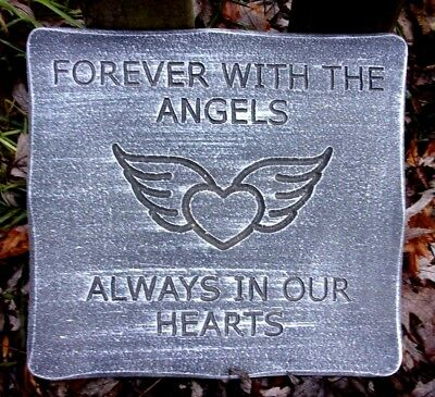 Memorial Dog plaque mold concrete plaster mould Sleeping with the Angels