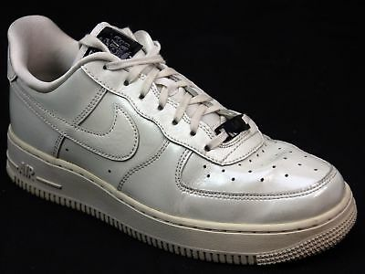 cheaper 30b83 59d35 Womens Nike Air Force 1 Upstep Dark Stucco White Patent Leather Trainers  Size 5
