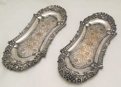 A Fine Pair of Old Sheffield Plate Snuffer Trays c1800 - highly ornate