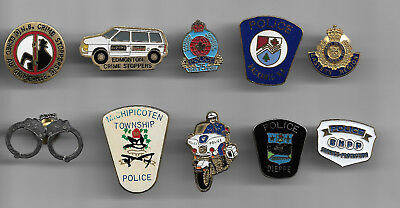10 Misc ,  Police Lapel Pins