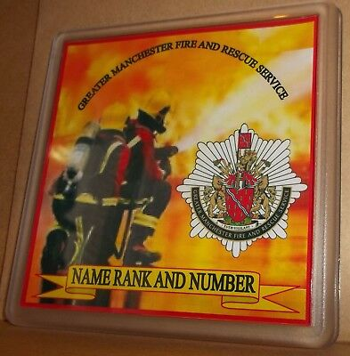 Greater Manchester Fire and Rescue Service coasters (pack of 4) free postage.