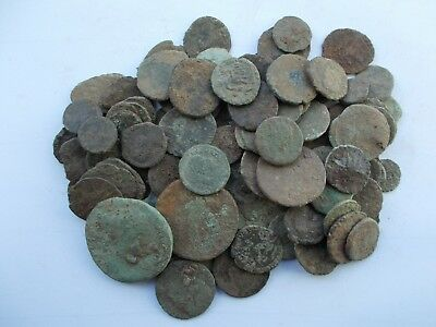 Qty 100 Roman Bronze Coins (Uncleaned/unidentified)