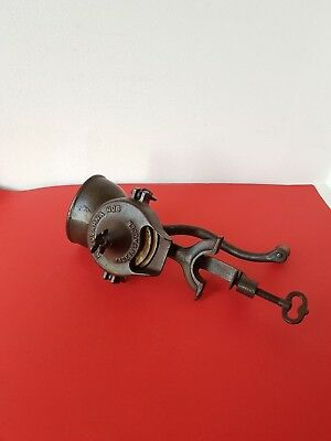 ANTIQUE EARLY 1900's CAST IRON COFFEE GRINDER BY HUSQVARNA N.5 SWEDEN