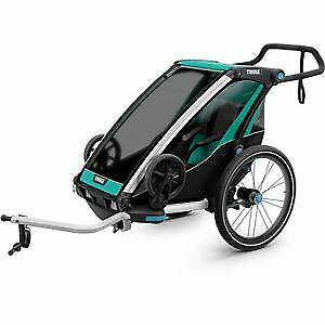 Thule Chariot Lite 1 UK certified child carrier cycling & strolling kit blue