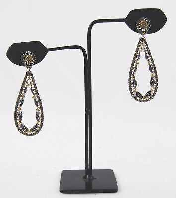 a1efcd48d Miguel Ases 14k Gold Pyrite Hematite Silver Rondell Crystal Earrings