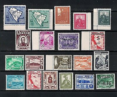 Peru - 20 Stamps Mid Century all Mint/NH