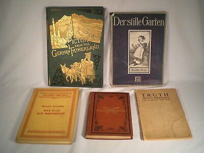 Lot 5 Antique German Books ~1880+ ~Pictures  Fatherland~Truth About Germany +