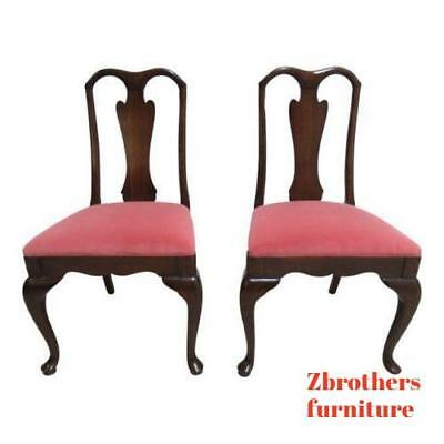 Pair of Harden Cherry Queen Anne Dining Room Side Chairs    A