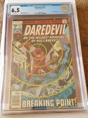 Marvel Daredevil #147  CGC 6.5 White Pages (Purple Man Appearance)
