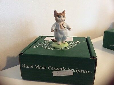 Beswick Beatrix Potter Tom Kitten Gold Buttons & Backstamp. Perfect, Boxed